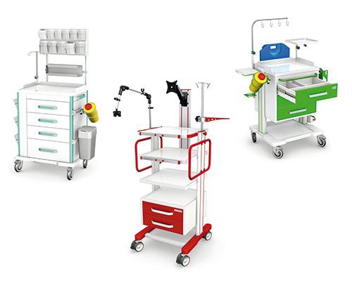 Tables, medical carts