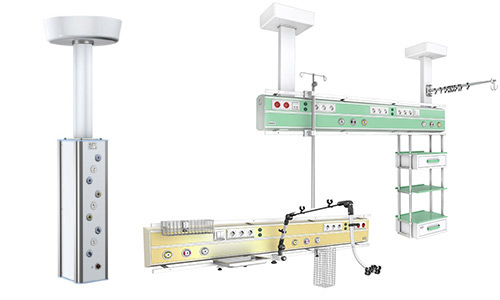 Supply systems with equipment
